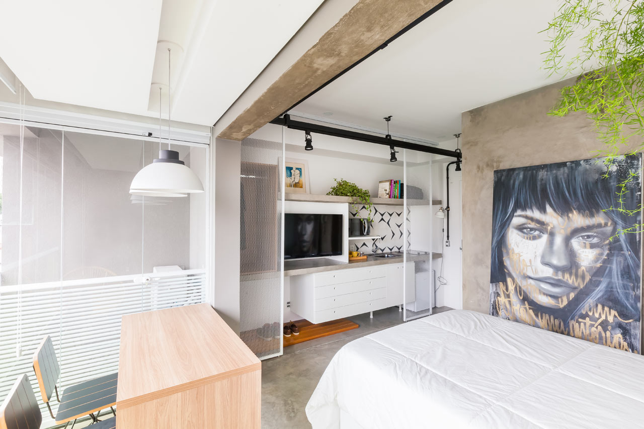 This compact apartment is only 24 square meters but it has everything necessary for a second home for a business traveler