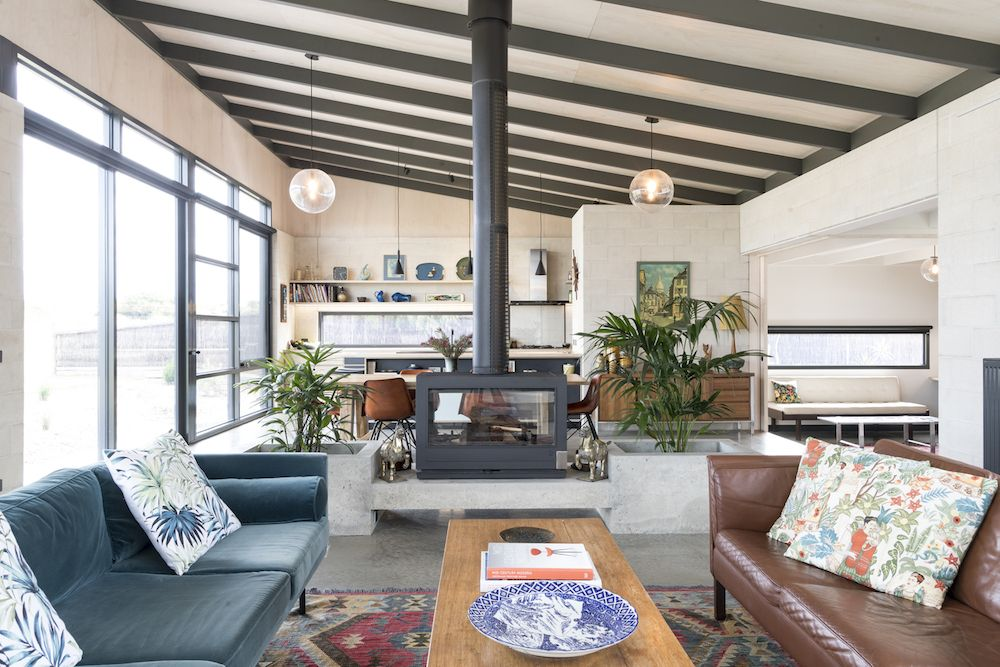 This gorgeous home is very welcoming, spacious and airy and features a mid century modern look inside and a more modern exterior