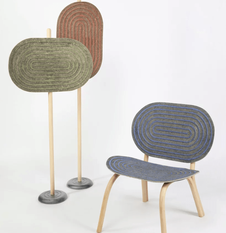 Chairs And Space Dividers Of A Brand New Material