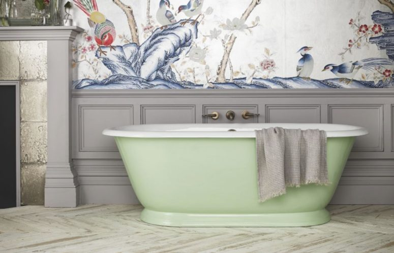 Colorful Tweed Bathtub Inspired By Bateau Tubs