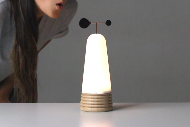 Interactive Vole Lamp Inspired By The Wind