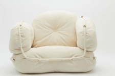 02 The furniture is soft and welcoming covered with canvas made by a Japanese brand