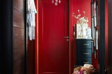 02 red as the main color for an entryway is great as it leaves a long impression
