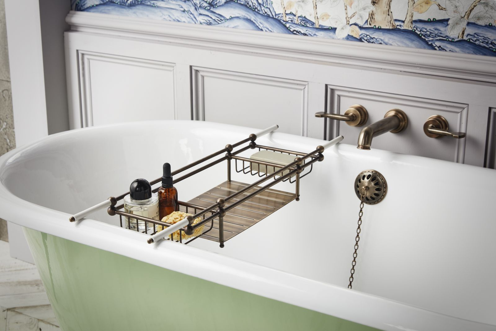 Bring vintage chic and a bright colorful touch to your bathroom with a Tweed Tub