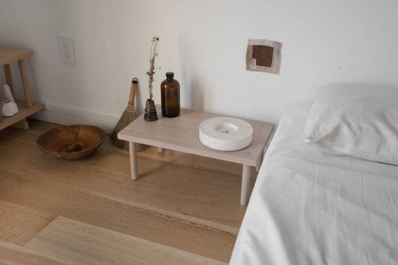The furniture is simple yet stylish and brings somewhat a natural feel