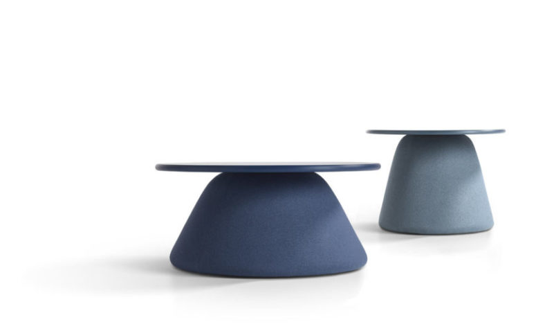 The pieces are available in different sizes and heights, and tabletops are also available in various sizes, too