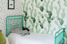 04 one watercolor cactus statement wall is enough to make your kid's room desert-like