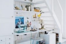 05 a home office gets much light thanks to the staircase with only steps and no risers
