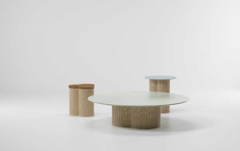 Tables also are a part of the collection, with various height and sizes