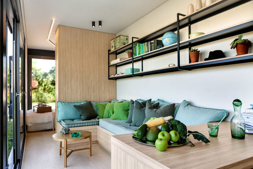 dining space with storage