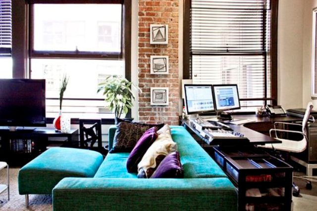25 Ways To Pull Off An Office Nook In A Living Room Digsdigs