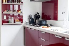 07 red is great for a kitchen but dilute it with white for a contrast or just avoid it if you are watching your weight