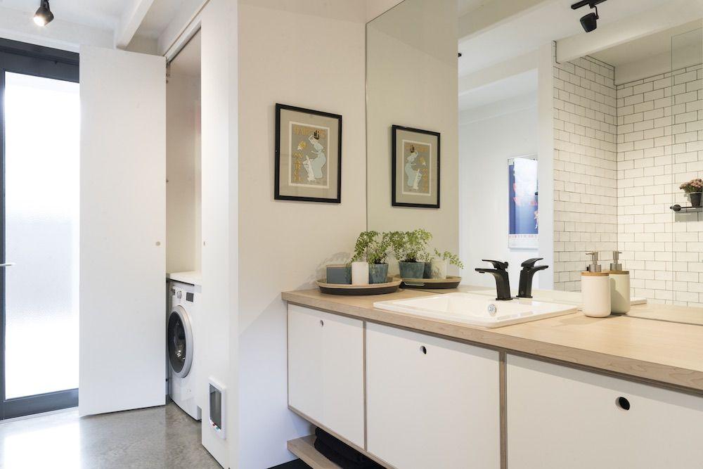 hidden bathroom storage solution