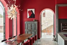 08 a dining space will profit from red, especially if guests often come, but avoid it for the weight reason
