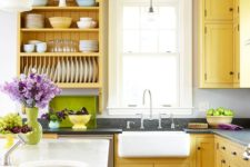 09 yellow is great for a kitchen as it's energetic and bright and creates a feeling of sunlight