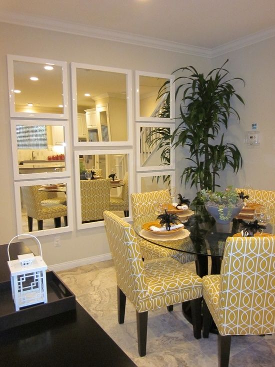 yellow is great for dining spaces for the same reasons as for the kitchens