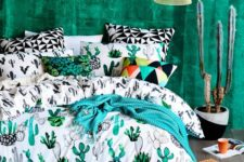 11 colorful and fun cactus print bedding is a gorgeous idea for adding a summer feel to your space
