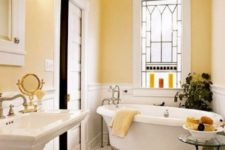11 yellow visually expands small spaces warming them up, great for a small bathroom