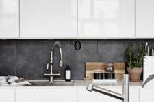 12 a tile look of the concrete backsplash brings more texture and looks outstanding