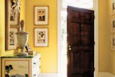 banana colored entryway