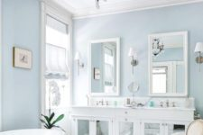 14 serene light blues are great for a bathroom, comfort is right what you need there