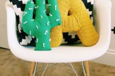 15 a bold green cactus pillow is a simple way to spruce up the space and you can DIY it