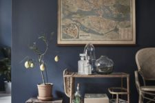 16 if you are going for dark and cold blue shades, add warm touches to create harmony