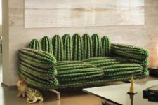 18 a fun cactus-inspired sofa looks very natural yet it's soft and very comfortable