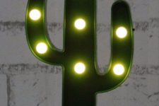 19 a cactus LED light is easy to make or to buy and you may add a whimsy touch to the space