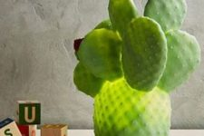 20 a fun cactus table lamp is a whimsy idea for decor, which will be loved by both kids and adults