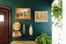 20 rock green shades and real greenery for an entryway to make it welcoming and embracing