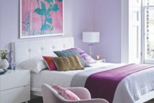 21 a lilac bedroom is a veyr relaxing space and it isn't cold like a blue one