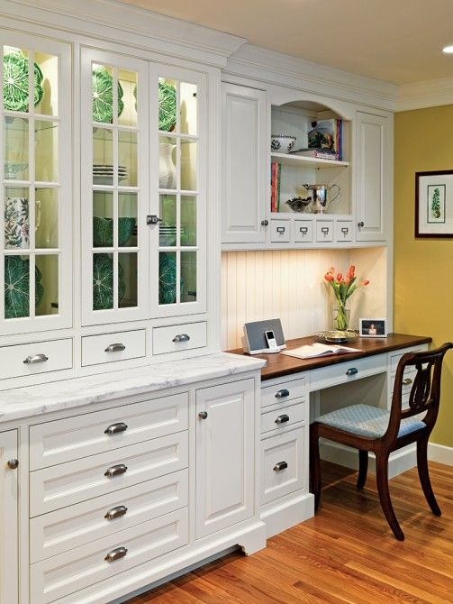 25 Ideas To Incorporate An Office Nook Into A Kitchen