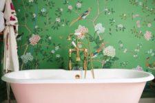 glam bathtub in a stylish bathroom
