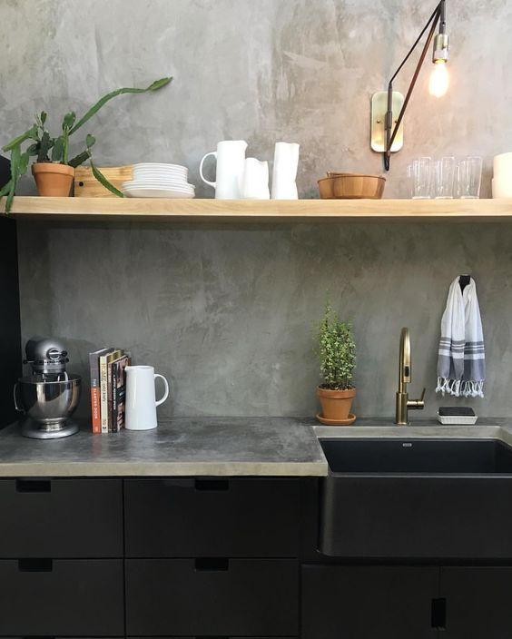 Industrial Kitchen Backsplash: 25 Concrete Kitchen Backsplashes With Pros And Cons
