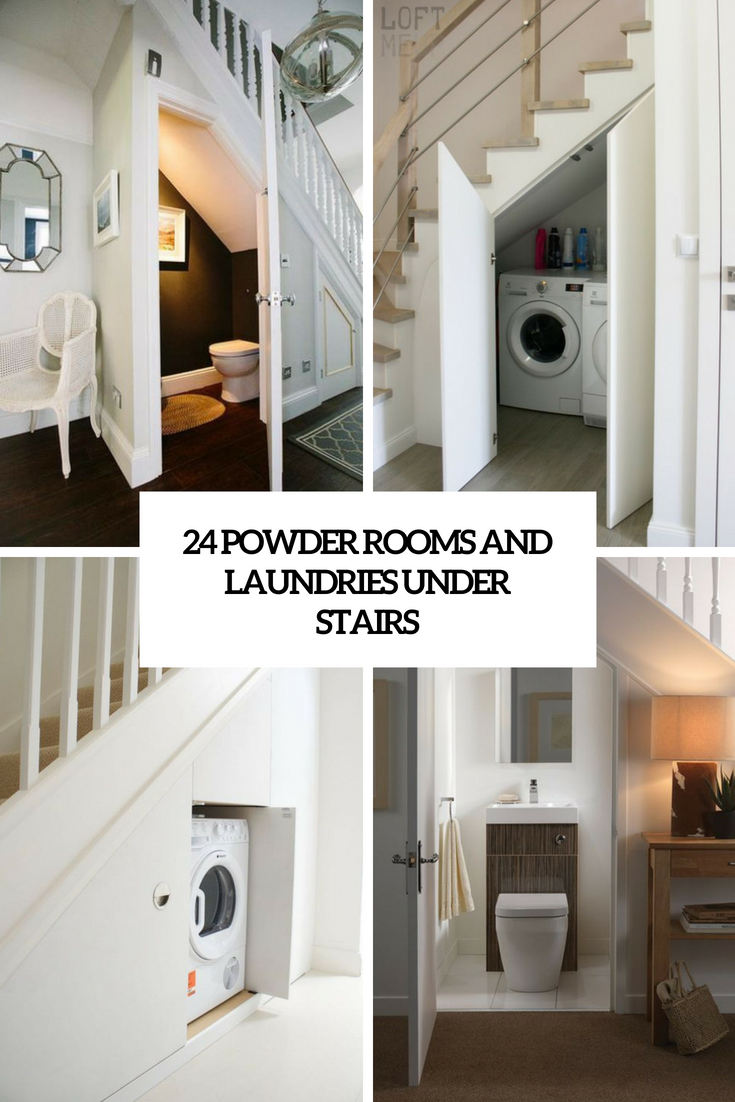 24 Powder Rooms And Laundries Under Stairs