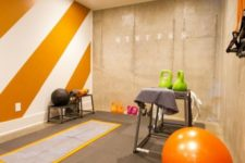 25 go for orange in your exercise room, as the color is very energetic and bright