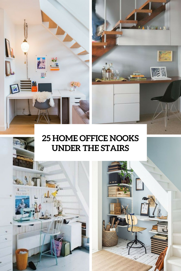 25 Home Office Nooks Under The Stairs