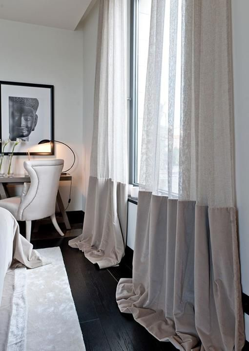make the room more refined with such color block curtains