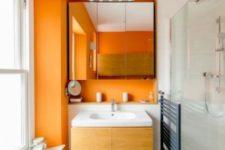 ripe orange bathroom design
