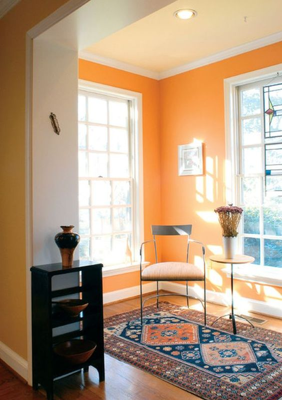 be careful with this color as it's very bright but you may create such colorful nooks here and there