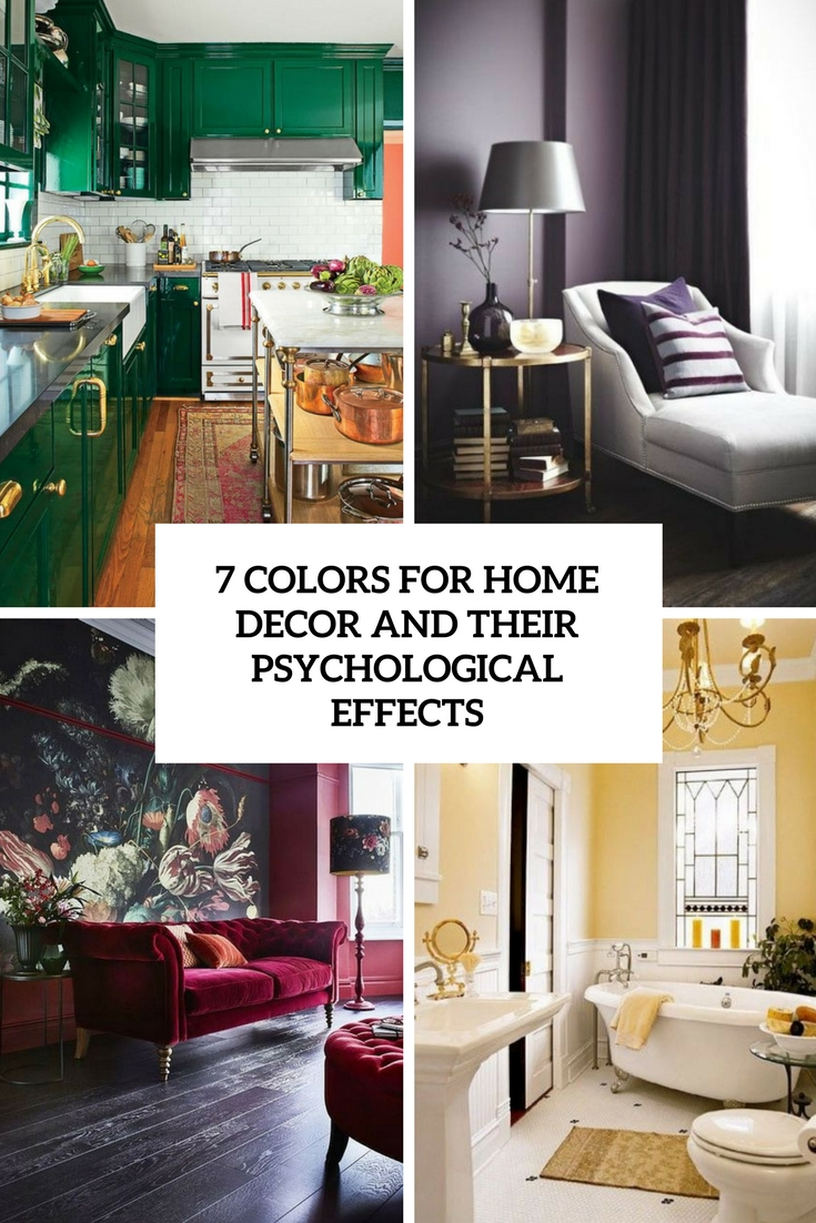 7 Colors For Home Decor And Their Psychological Effects