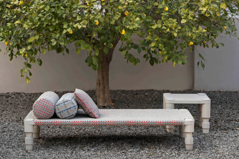 Garden Layers collection by Patricia Urquiola is inspired by Indian culture and textiles