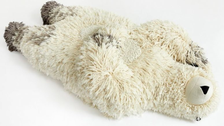 Polar Bear bean bag chair looks super cute and soft