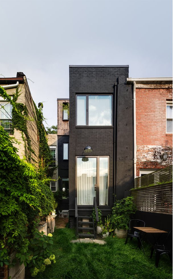 This row house is only 11 foot wide but it doesn't prevent it from being stylish and functional
