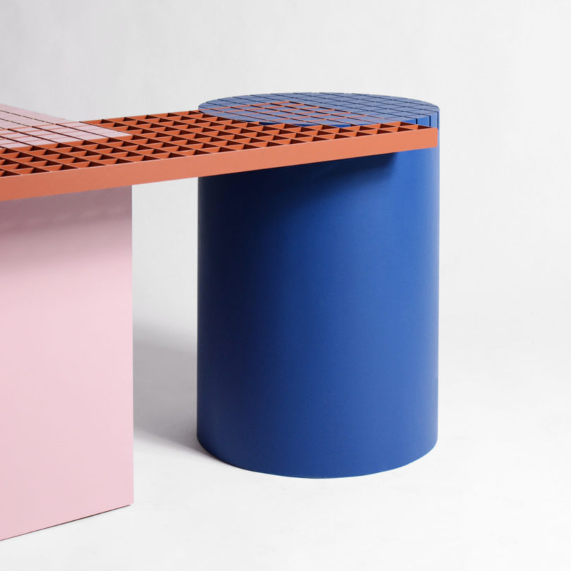 modern colorful benches design
