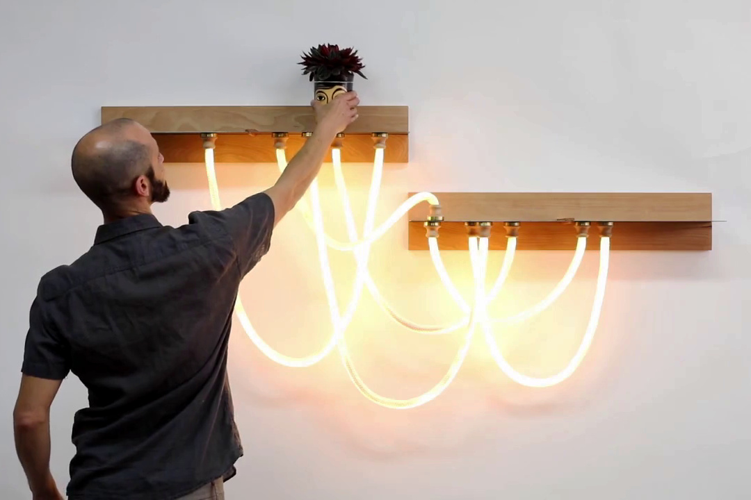The nylon cords can be arranged in different ways to create the look that you like