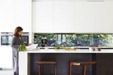 modern black and white kitchen design