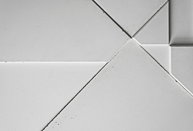 Add an edgy industrial touch to your space covering the walls with such tiles