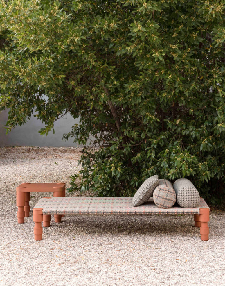 You can organize your outdoor spaces and garden with stylish furniture